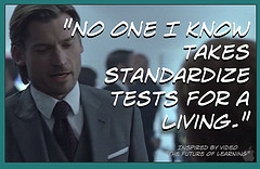 No one I know takes standardize tests for a living